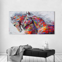 HDARTISAN Wall Art Canvas Pictures The Horses For Living Room Animal Painting Home Decor No Frame(China)