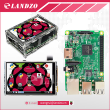 "Raspberry Pi 3 Model B Kurulu + 3.5 ""LCD Dokunmatik Ekran ile Ekran Stylus + Akrilik Ahududu Pi Vaka 3 kiti Ücretsiz Kargo"