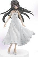 18cm Japanese Original Anime Figure Puella Magi Madoka Magica Akemi Homura White Dress Ver Action Figure