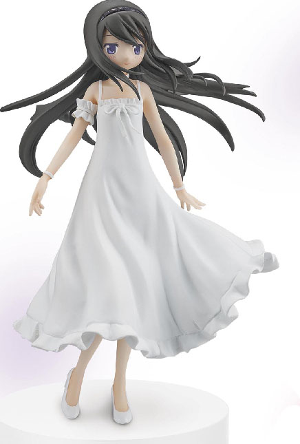 18cm Japanese original anime figure Puella Magi Madoka Magica Akemi Homura white dress ver action figure collectible model toys