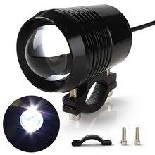 A PCS Spotlight Headlight 12V 30W 1200LM Super Bright U2 Waterproof Car Styling LED Motorcycle Headlights Moto Lights