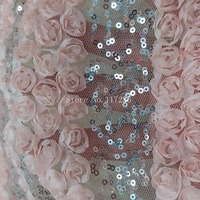 top quality 3d French net lace with stones JRB 62702 3D flowers lace fabric for bridal embroidered lace fabric
