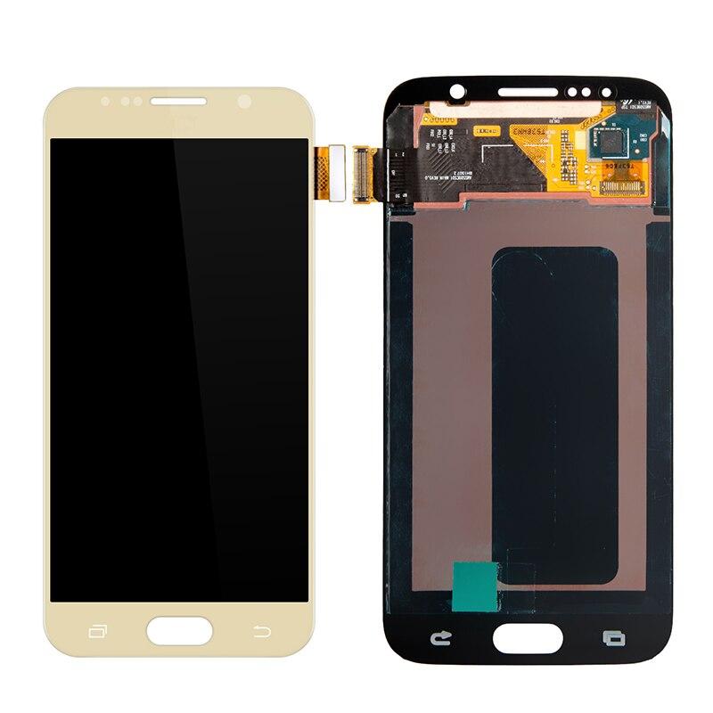 5 шт./лот ЖК дисплей Сенсорный экран планшета замена для Samsung Galaxy S6 ЖК дисплей Дисплей мобильный телефон ремонт Запчасти Бесплатная доставка