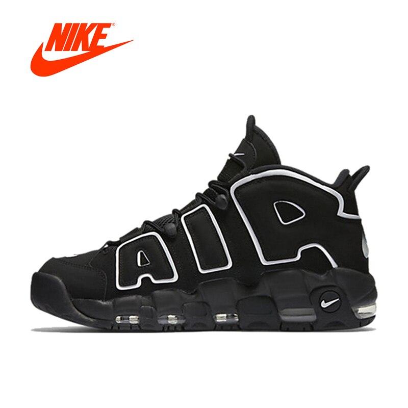 Оригинальный Новое поступление Аутентичные Nike Air более Uptempo для мужчин's баскетбольные кеды спортивные удобные прочные кроссовки