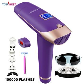 Depiladora T009X portátil para el hogar, máquina de depilación permanente IPL para mujeres, hombre, axila piernas, Bikini, Depilador a láser