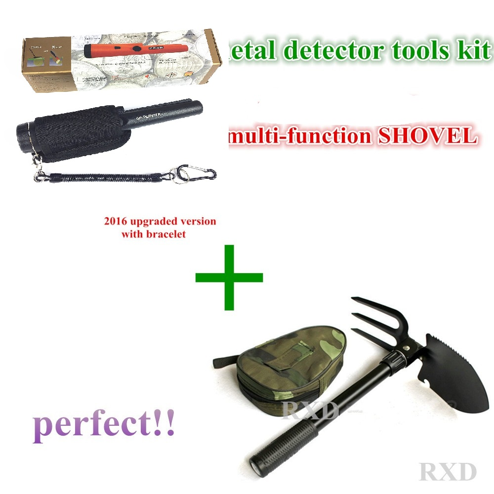 2016 NEW upgraded Sensitive Garrett Metal Detectormulti-function shovel Pro Pointer Pinpointing Hand Held Metal Detector KIT 2016 newst sensitive garrett metal detector pro pointer pinpointing hand held metal detector water resistant with bracelets
