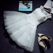 Vestido curto sem ombro com laço branco suor, feminino, princesa, dama de honra, banquete, festa, vestido de baile