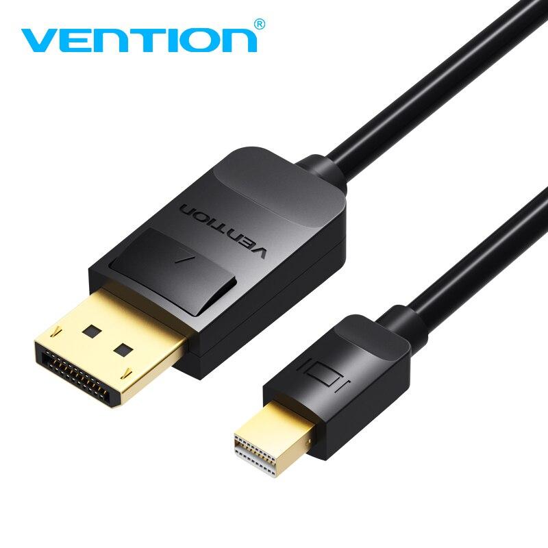 Vention Mini Porto da Exposição para Mostrar Cabo de Porta Thunderbolt para DP 4 K HD Cable para Macbook Macbook Air Alta Premimu suporte 3D