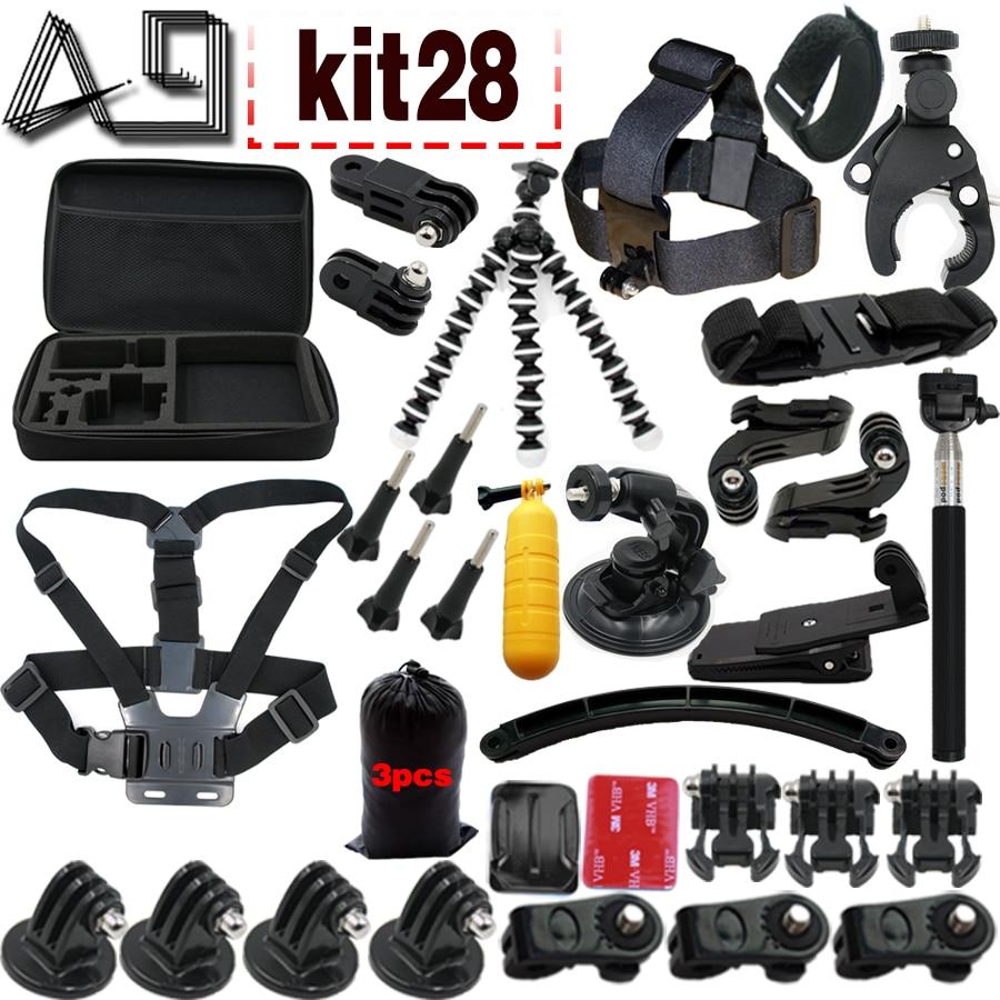 A9 Para Gopro set de accesorios go pro kit mount SJCAM Xiaomi Yi para - Cámara y foto