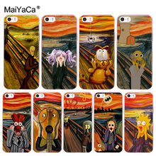 MaiYaCa funny screaming Edvard Munch Newest Fashion Luxury phone case for Apple iphone 11 pro 8 7 66S Plus X 5S SE XS XR XS MAX(China)