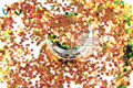 TCR404 Iridescent Red Gold  With Green  luster color Stars shape 3.0MM Size glitter for nail Art and DIY decoration