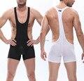 Forte Respiração Holes Underwear Wrestling Singlet Leotard Vest dos homens