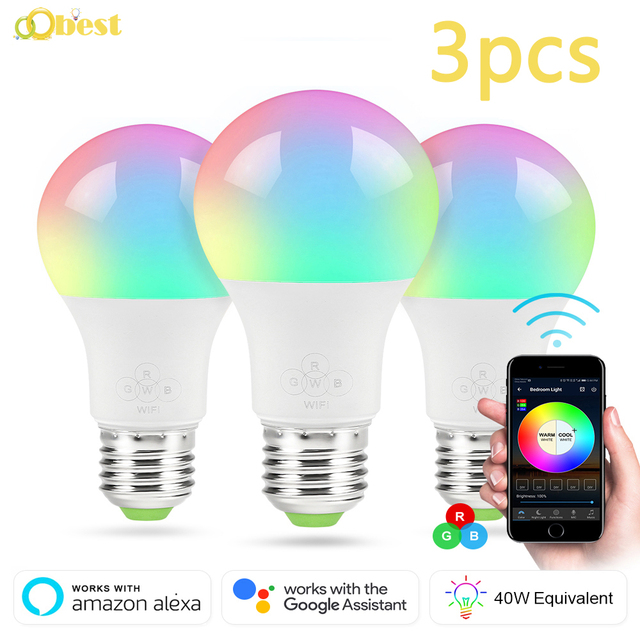 Smart WiFi Light Bulbs (3) Works
