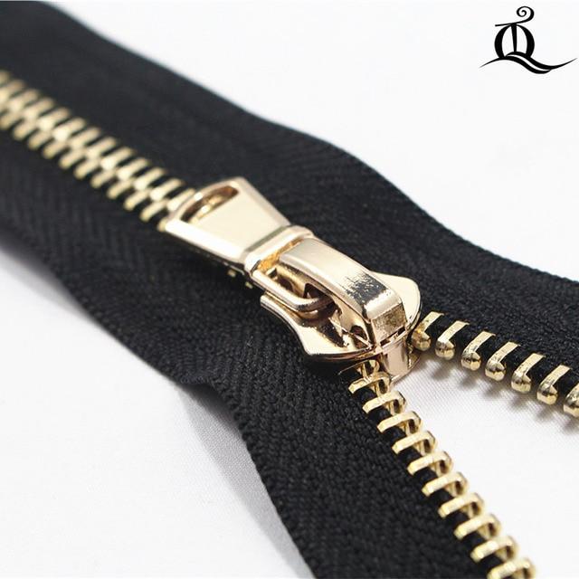 f57fd1d2b0da 40cm 100cm 1pcs open End Metal Zippers With Pearl Slider