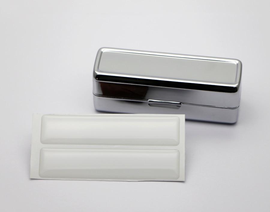 Lipstick case with Mirror Blank Metal lipstick holder with mirrorr epoxy sticker DIY set