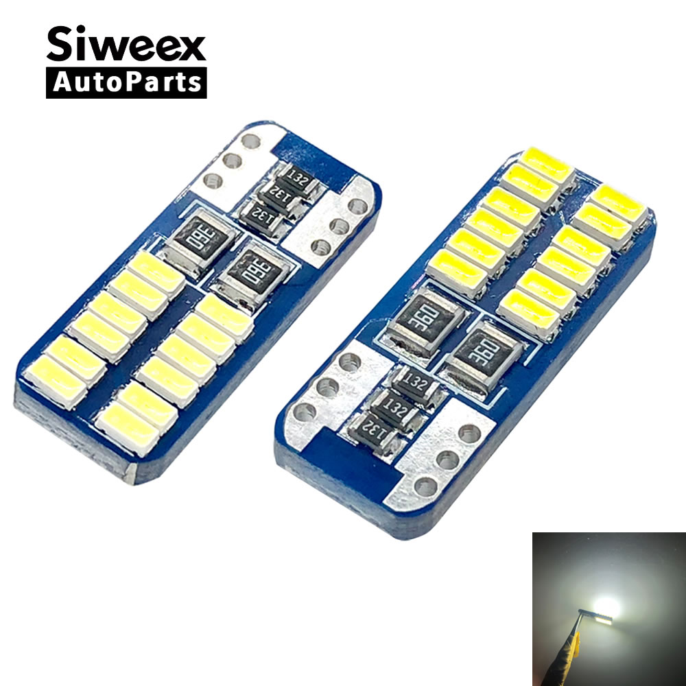 Из 2 предметов T10 W5W 194 Canbus ОВС ошибок 3014 SMD 24 чипов автомобиль лампы светодиодный свет Интерьер Карта узнать двери номерных знаков авто лампы