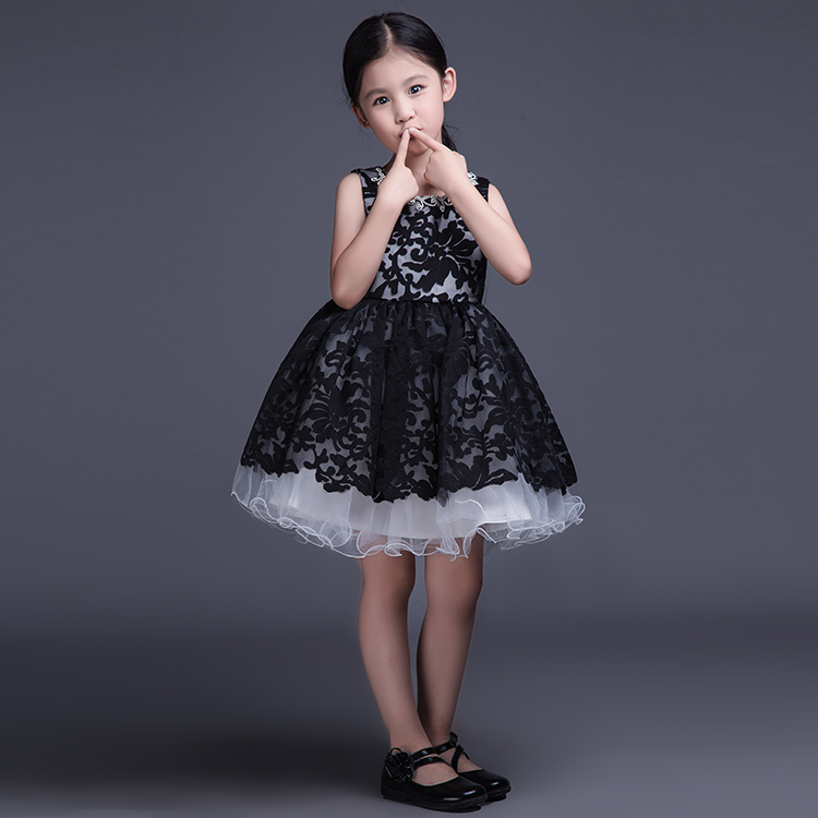 8508 Free Shipping New Flower Girls Dresses Girls Graduation Short
