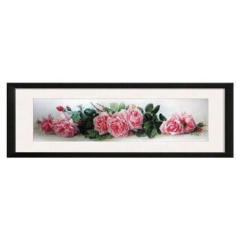 Bordado DIY DMC 14CT Kit de punto de cruz sin imprimir para los patrones de flores de rosa roja conteo Cruz-Costura decoración del hogar