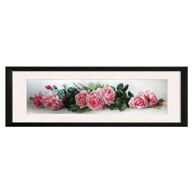 Bordado DIY DMC 14ct sin imprimir Cruz puntada kits para la rosa ...