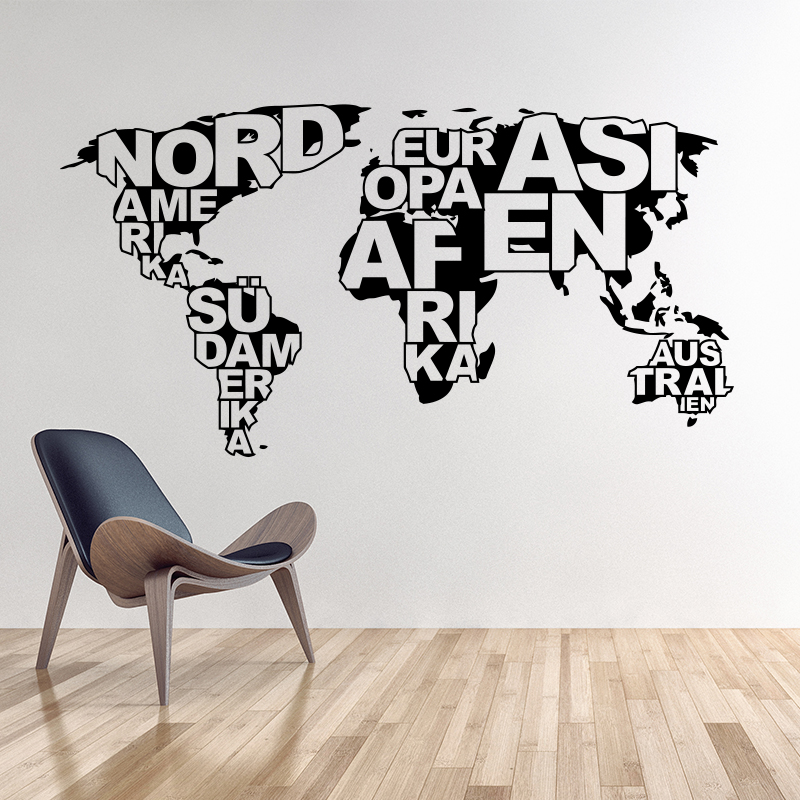 Aliexpresscom Buy Art design World map vinyl wall sticker home