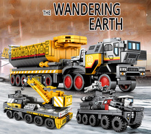 Movie Technic the Wandering Earth Transport Truck Carrier Vehicle Car Model Building Blocks Bricks Kids Boy Toy Gifts