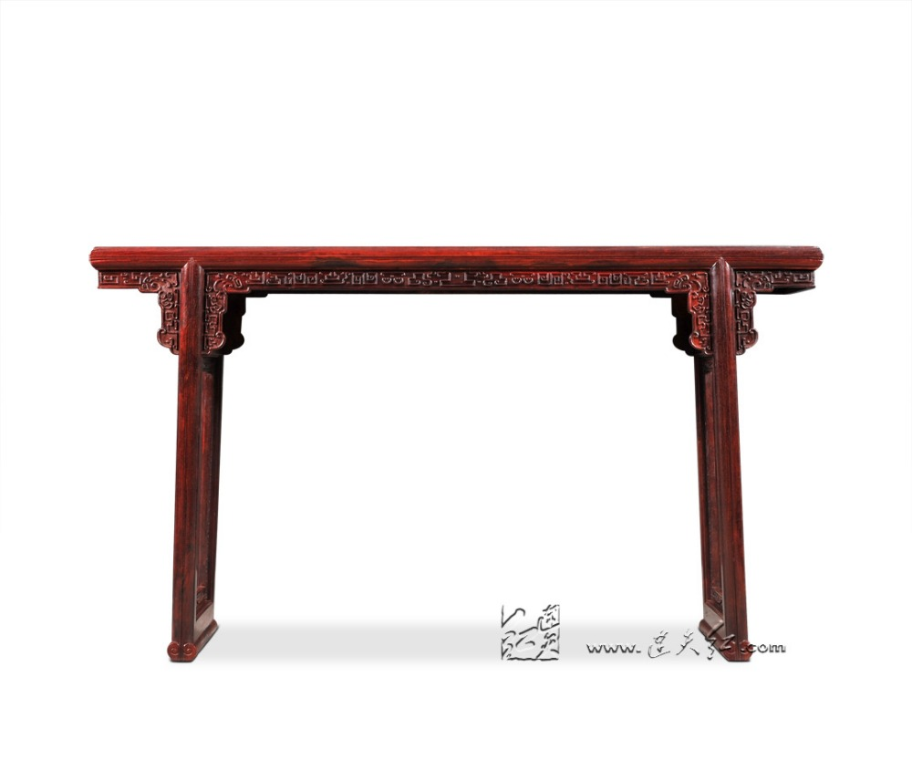 Office Furniture Tick Moire Pattern Desk Living Room Long Console Table Burma Redwood Chinese Clical Luxry Writing China