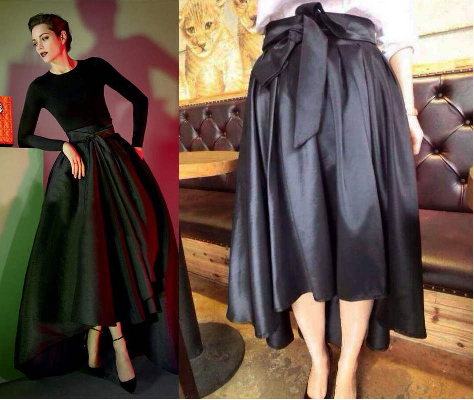 High Waisted Full Midi Skirt - Skirts