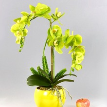 1pc 11 heads Artificial Butterfly Orchid Flower Plant Artificial Plant Flowers Home Decor Wedding Decoration Artificial Flowers