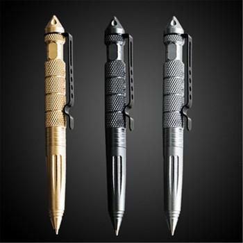 Wysokiej jakości metalowy kolor taktyczny długopis obronny uczeń biurowe kulkowe długopisy tanie i dobre opinie Długopis kulkowy 0 5mm Biuro i szkoła pen you ping Black 150mm 1pcs