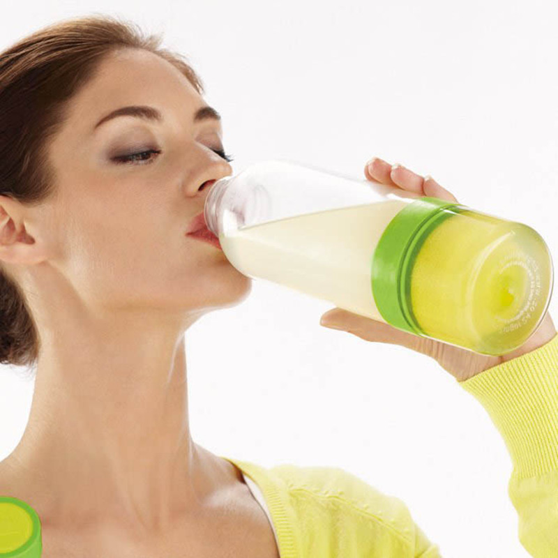800 ml mi jugo de frutas botella de agua fácilmente bicicleta ecológica lemon mi