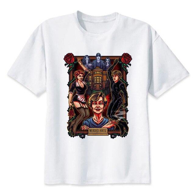 d93c2b5e80d murder house american horror story t-shirt ahs culture halloween tshirt  scary monster Croatoan tees shirt funny shirt