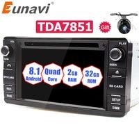 Eunavi Android 8.1 TDA7851 2 Din Car DVD Player For Mitsubishi Outlander 2013 2016 Pajero 2din Radio Stereo PC GPS Navigation