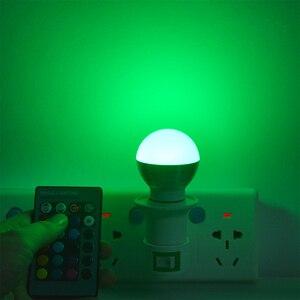 Image 4 - 1Pcs Lovely 16 Colors RGB Christmas Decor Atmosphere LED Night light E27 5W 110V   220V LED lamp Spotlight Bulb + IR Remote
