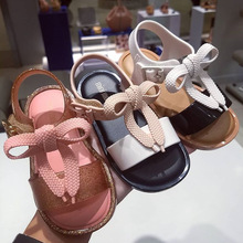 Mini Melissa 2019 New Summer Girl Jelly Sandals Bowtie Children Shoes Cute Princess Breathable
