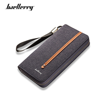 Baellerry 2019 Luxury Brand Wallet Men Long Soft Canvas Wallets Male Zipper Purse Men Fashion High Capacity Vintage Clutch Bag baellerry 2017 brand new kashelek visiting holder case mens canvas zipper wallet men clutch hand bag fashion clutch coin purse