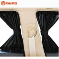 "2 x Update 70S(28""x15"") Aluminum Alloy Elastic Auto Car Side Window Sunshade Curtains - Black"