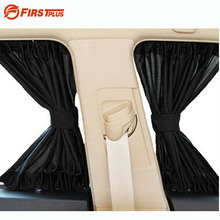 2 x Update 70S Aluminum Alloy Elastic Car Side Window Sunshade Curtains Auto Windows Sun Visor Blinds Cover – Black Beige Grey