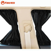 2 x Update 70S Aluminum Alloy Elastic Car Side Window Sunshade Curtains Auto Windows Sun Visor Blinds Cover Black Beige Grey