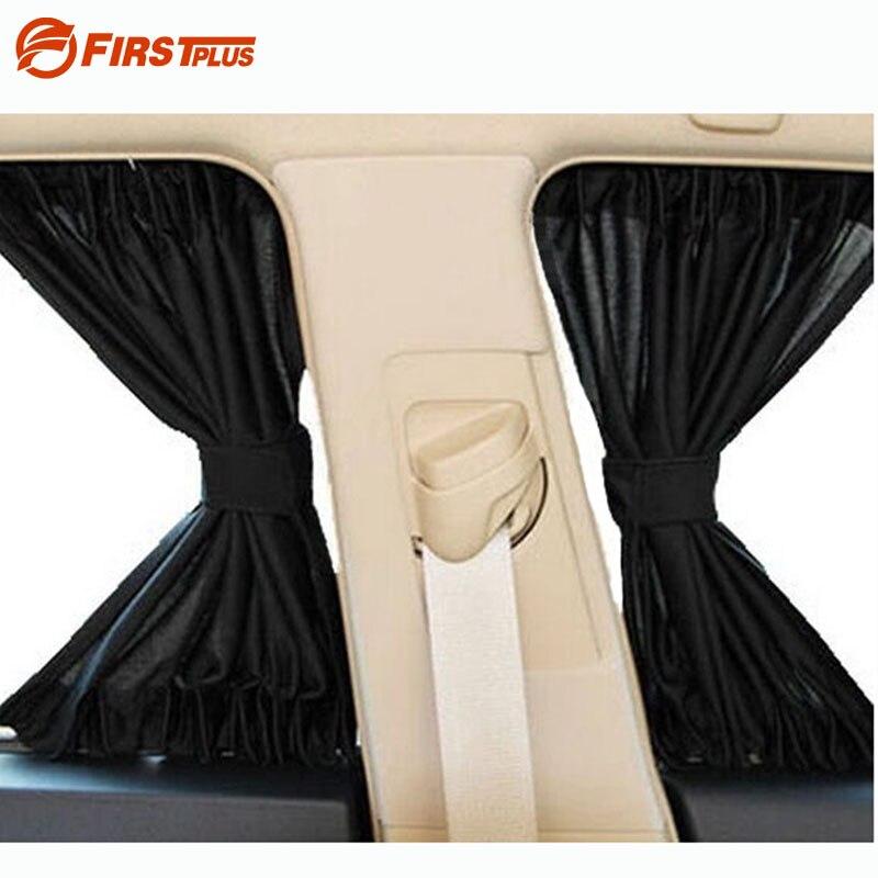 2 x Update 70S aluminium alliage élastique voiture côté fenêtre pare-soleil rideaux Auto fenêtres pare-soleil stores couverture-noir Beige gris
