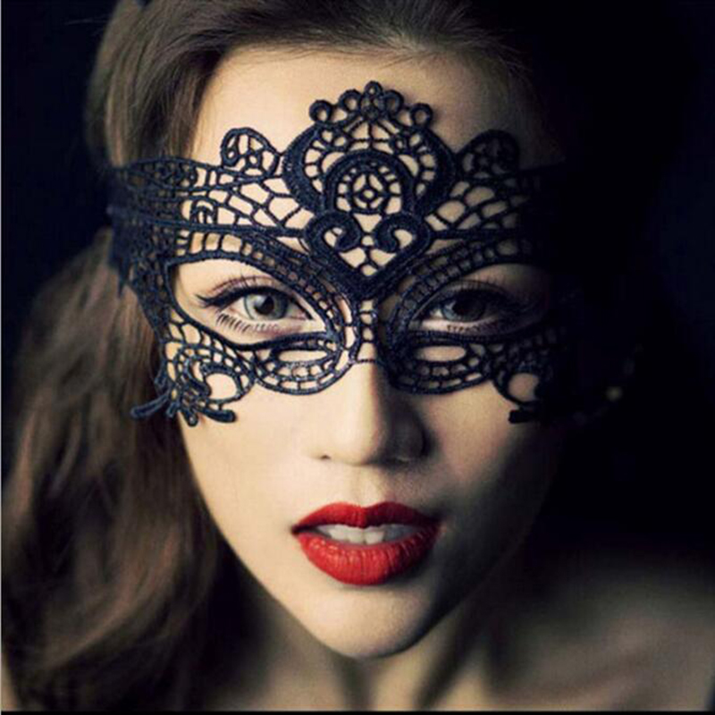 1 PC. Black Women <font><b>Sexy</b></font> Lace <font><b>Eye</b></font> <font><b>Mask</b></font> Party Masquerade <font><b>Masks</b></font> For Halloween Costumes Venetian Carnival <font><b>Masks</b></font> Mardi Anonymous image