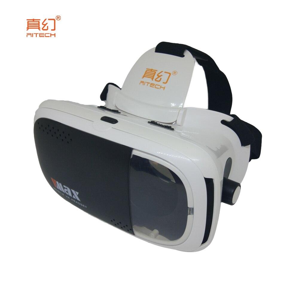 <font><b>RITECH</b></font> VMAX <font><b>Virtual</b></font> <font><b>Reality</b></font> 3D VR <font><b>Glasses</b></font> Immersive Smartphone Helmet Headset Lens 3D for 4.7 ~ 6 inch mobile phone