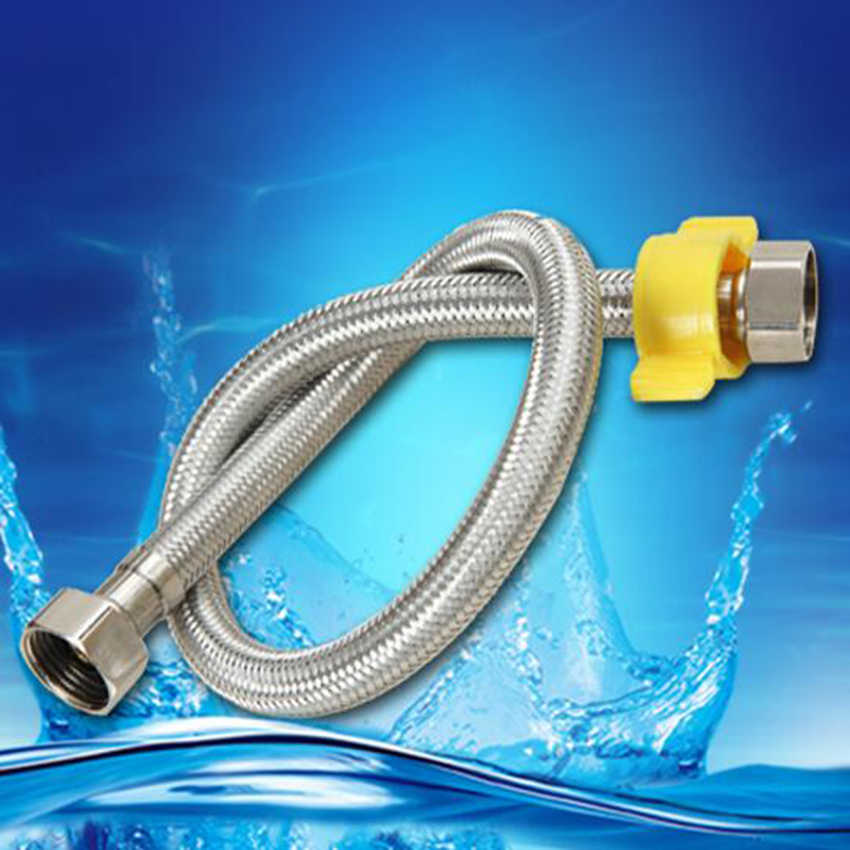 Flexibele Kranen Gevlochten Slang Tap Rvs Dubbele inlaat waterleiding Badkamer Product