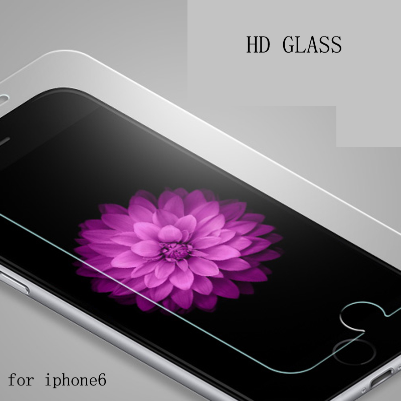 Real Tempered Glass Film For Alppe iPhone 5 5S 6 6S Plus Screen Protector protective case cover +clean kits