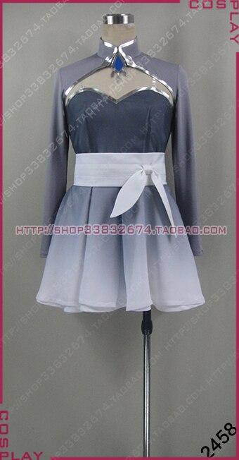 Anime RWBY Weiss Schnee Dívky party šaty Cosplay kostým S002