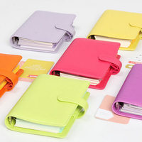 dokibook Personal A5 &A6 8 different color leather loose leaf planner leather notebook with double pen cap