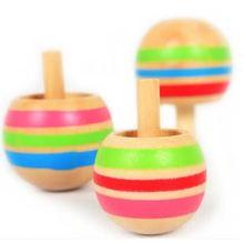 Montessori niños juguete de madera del juguete Mini peonza establece invertida y Normal girar preescolar entrenamiento Brinquedos Juguetes