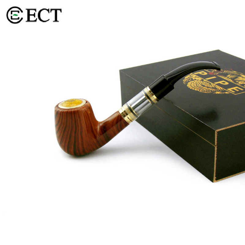 ECT Top Quality E-pipe 618 Vape Mod Pipe Electronic Cigarette Dual 900mAh Wooden Pipe Mod Rechargeable E Pipe nigel mini e pipe 628 smoking kit best e pipe vaporizer new 618 vape mod pipe eletronic cigarette big vapor wooden e cig cheap