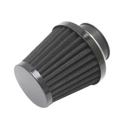 54mm Motorcycle Dirt Bike Black Cone Air Intake Filter Cleaner w/ Clamp Ring
