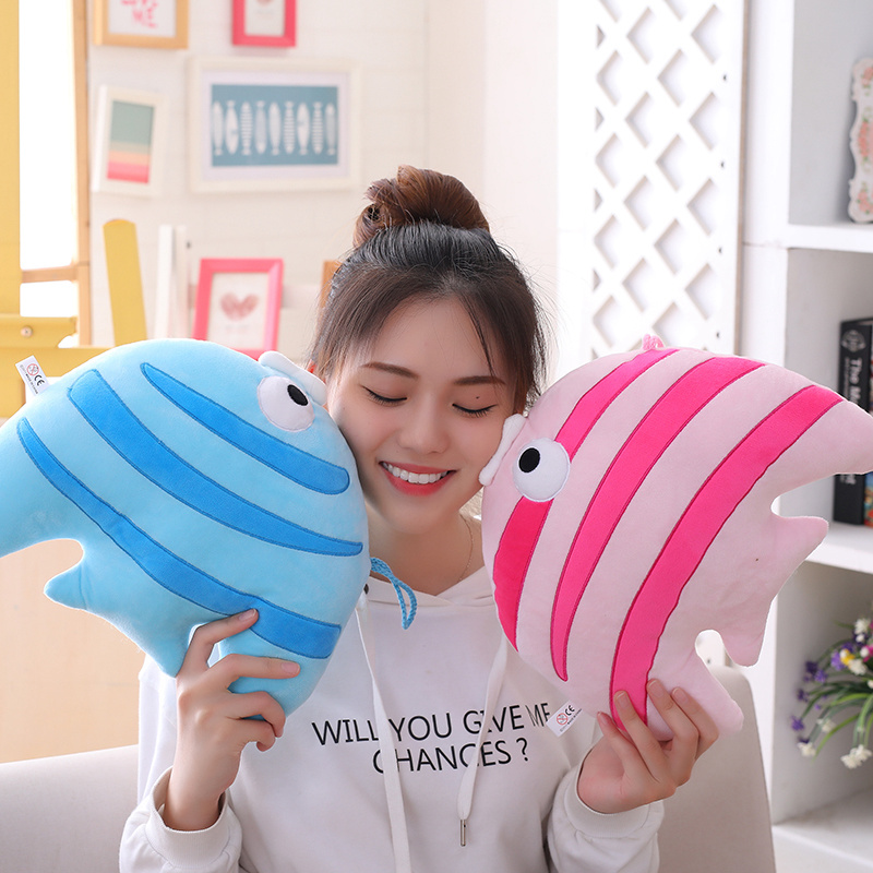New 1pc 30cm/50cm Cute Tropical Fish Plush Toy Soft Stuffed Pillow Kawaii Sea Animal Dolls Children Baby Girls Gifts Home Decor