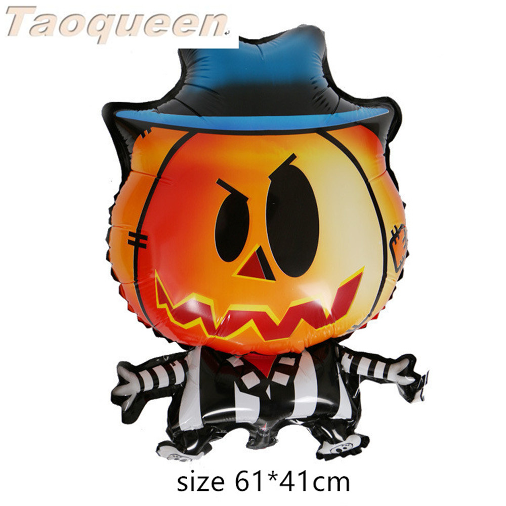 Halloween Pumpkin Ghost Balloons Halloween Decorations Foil Balloons Inflatable Toys Bat Halloween Party Supplies Cartoon Hat